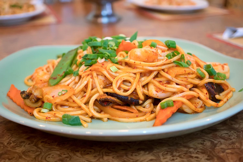 Korean Style Stir Fry Noodle Image
