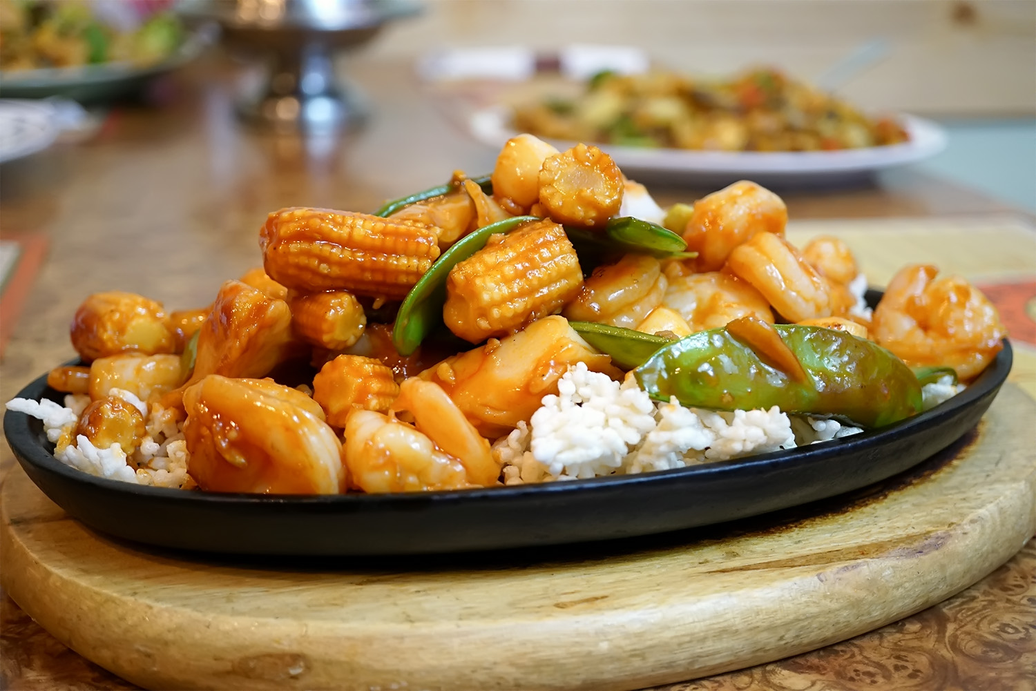 Seafood with Sizzling Rice