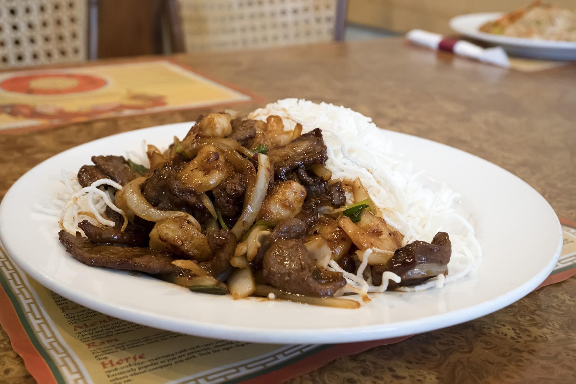 27. Mongolian Combo (Beef & Shrimp)