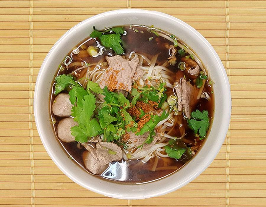Beef & Thai Meatball Noodle Soup