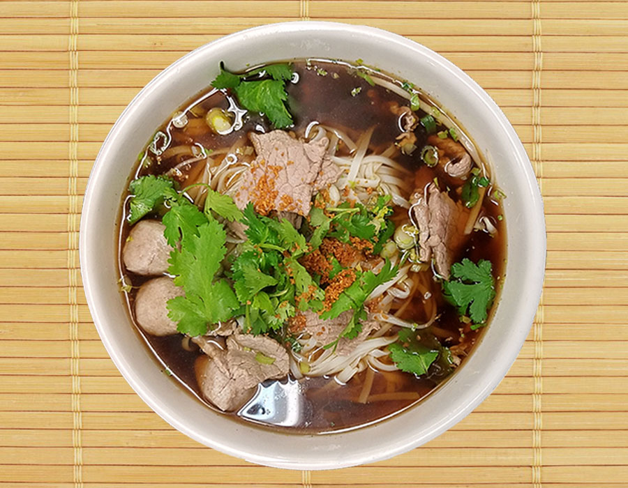 Beef & Thai Meatball Noodle Soup Image