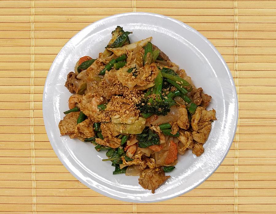 Pud Khee Mao (Spicy Basil Drunken Noodles)(Pad Thai noodles) Image