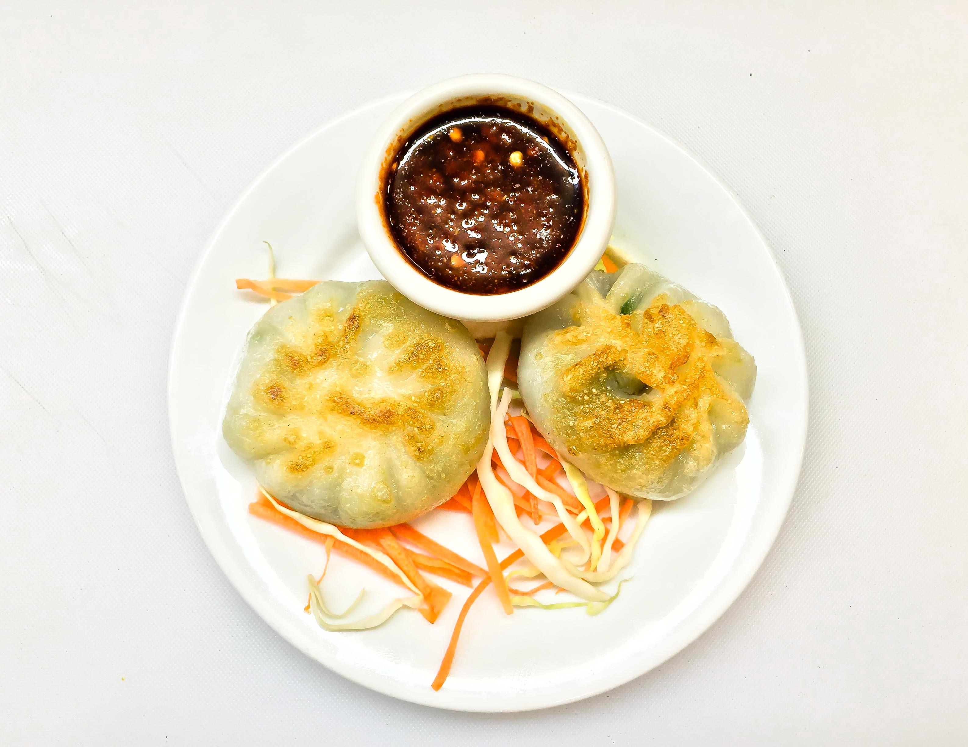 Pan-Fried Vegetable Dumplings (3 pcs) Image