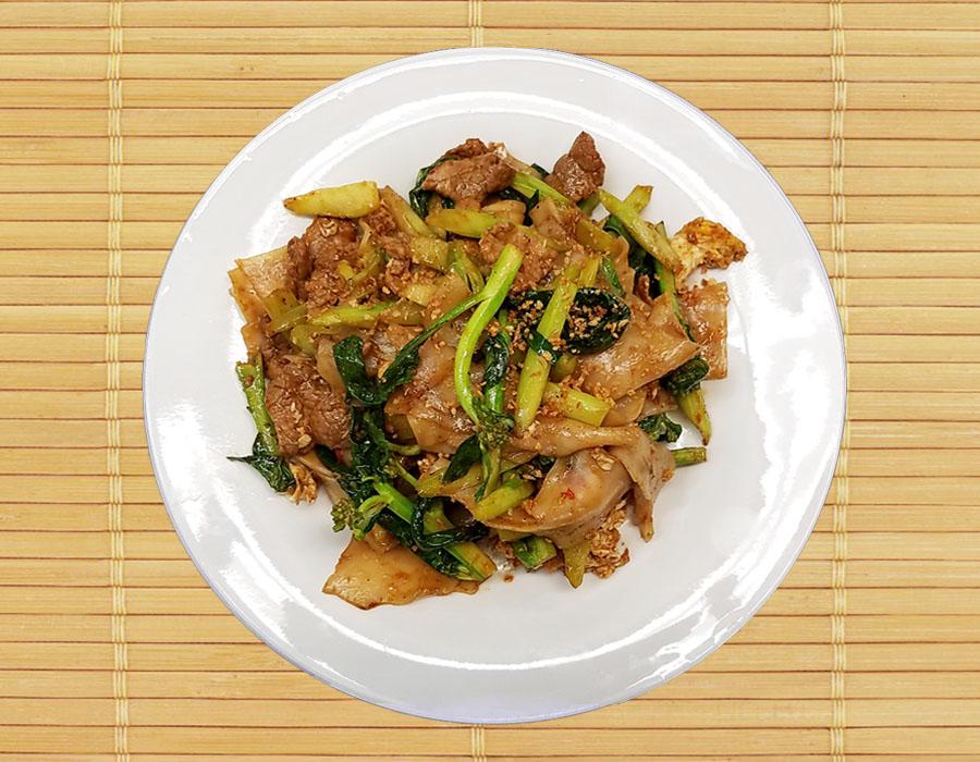 Pud See Eew (Rice noodle Medium size(Pad Thai Noodle)) Image