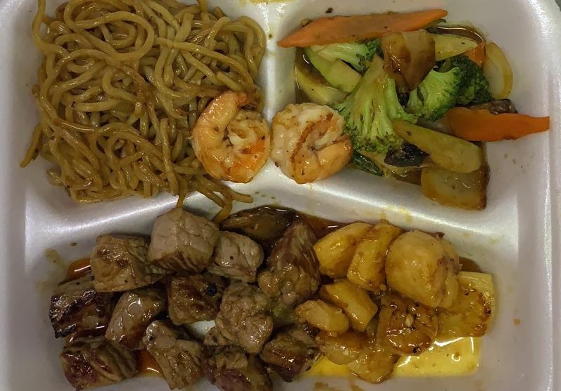 Hibachi Scallops & Steak