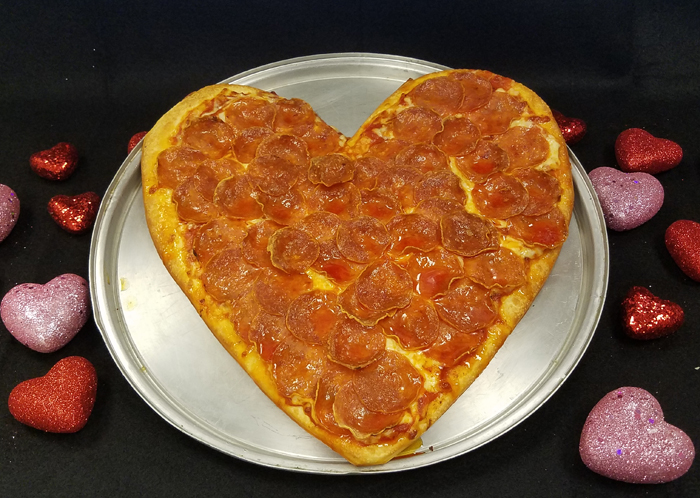 VALENTINE SPECIAL: Large Heart Shaped Pizza - 1 Topping