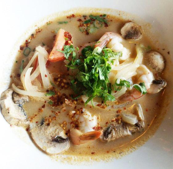 Ancient Thai Tom Yum Noodles Soup Image