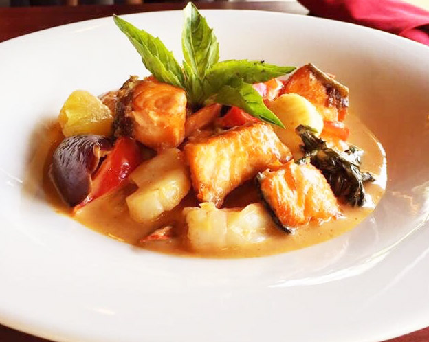 Salmon Pineapple Red Curry Image