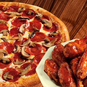 """DEAL 1: 20"""" THIN Pizza & Two 12pc Wings Image"""
