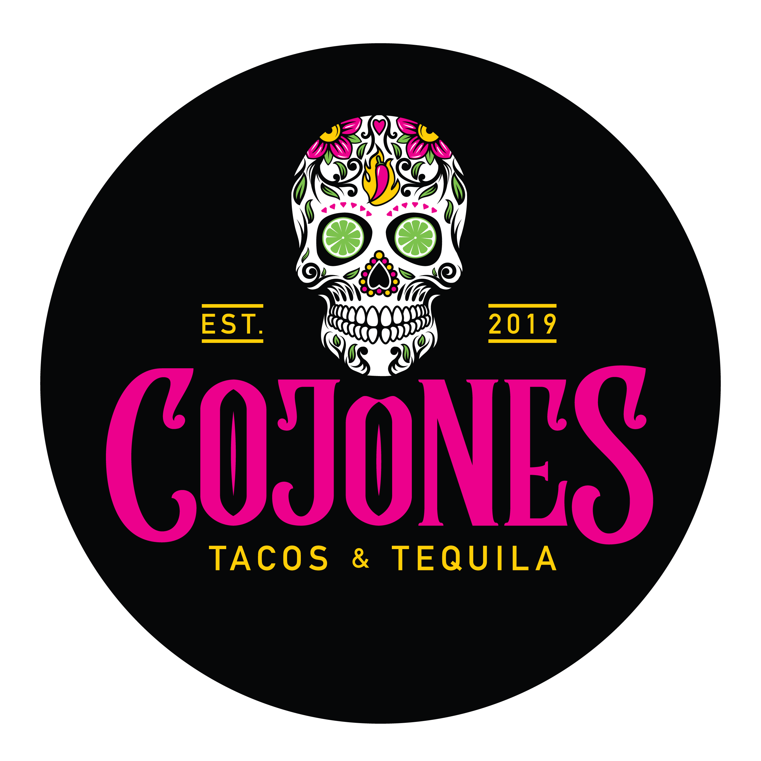 Cojones logo button