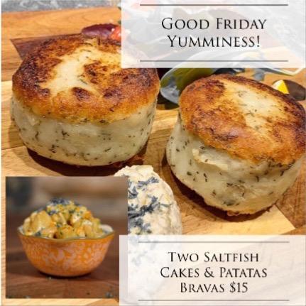 Salt Fish Cakes & Patatas Bravas Image