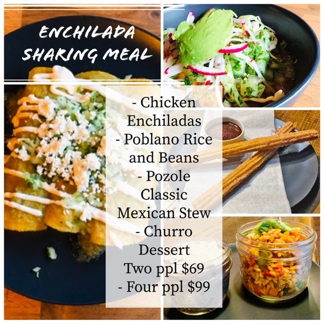 Enchilada Meal Three Course Meal Image