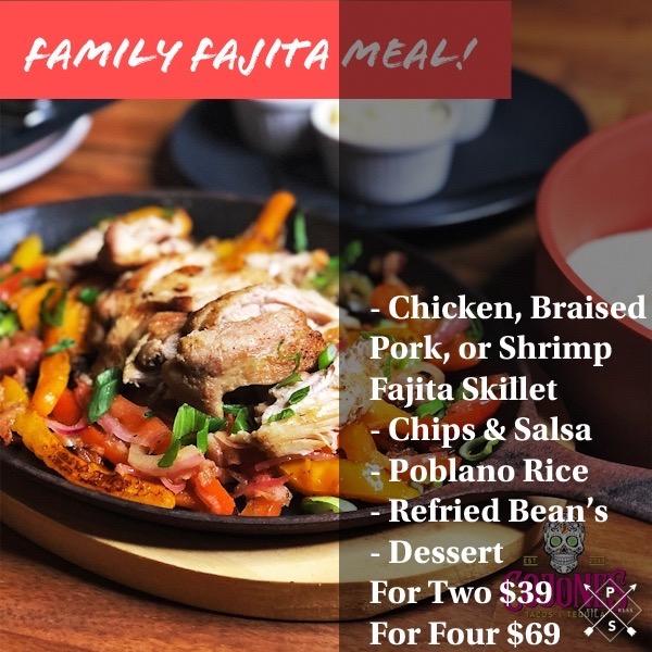 Family Fajitas Meal Image