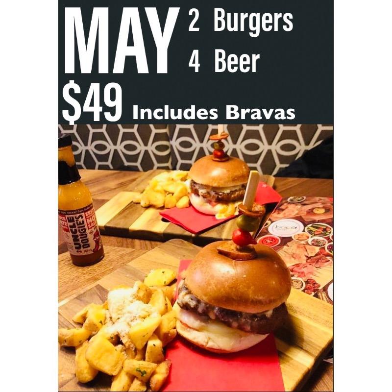 May 2-4 Burger & Beer Meal Image