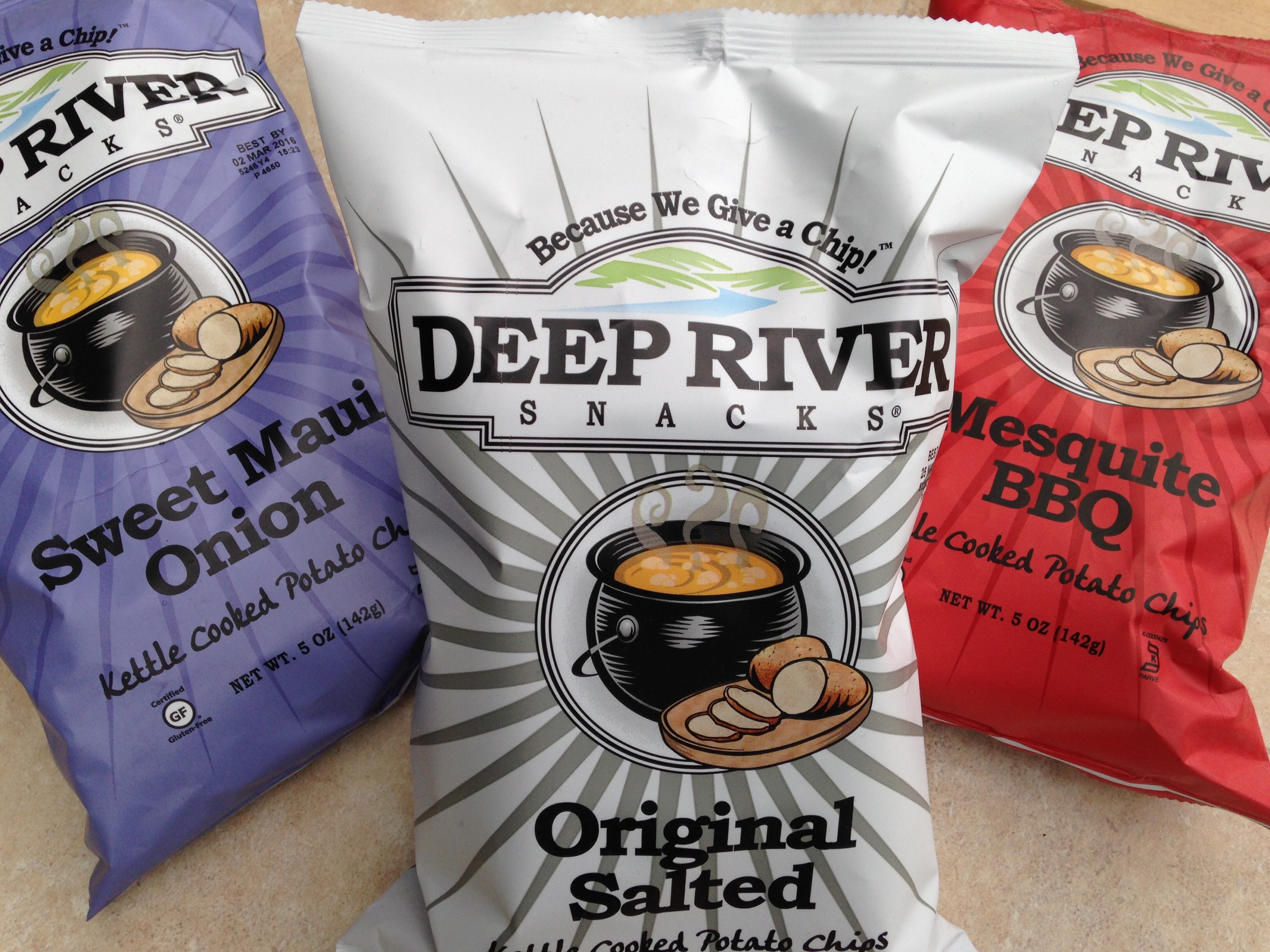 Large Bag Deep River Chips Image