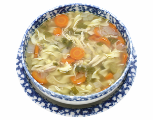 Large Homemade Chicken (or) Turkey Noodle Soup Image