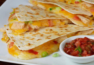 Grilled CHICKEN Quesadilla w/ Choice Side/Snack Image