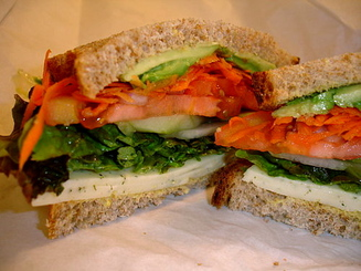 COLD VEGETARIAN Sandwich w/ Choice Side/Snack Image