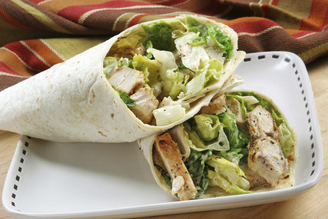 Grilled CHICKEN WRAP w/ Choice Side/Snack Image