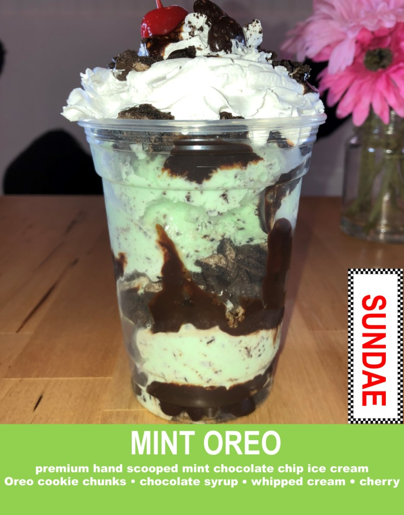 Mint Oreo Sundae