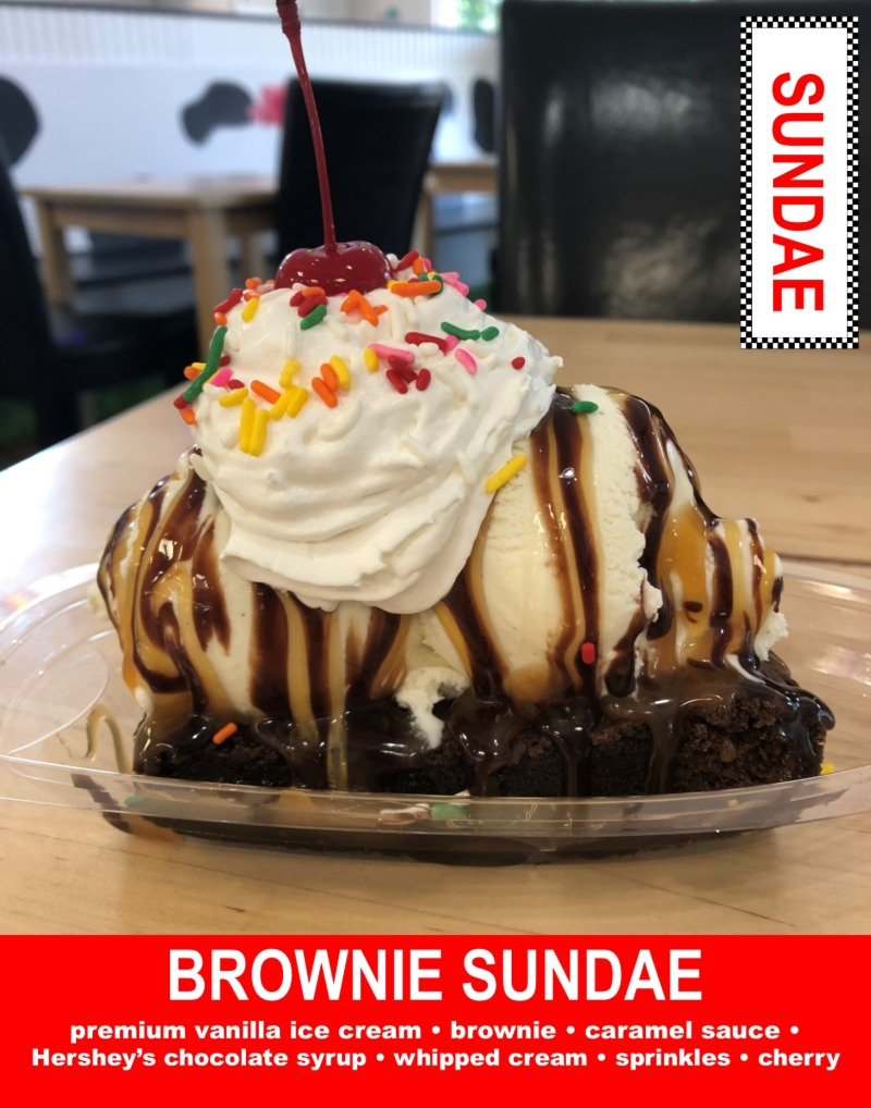 Warm Brownie Sundae