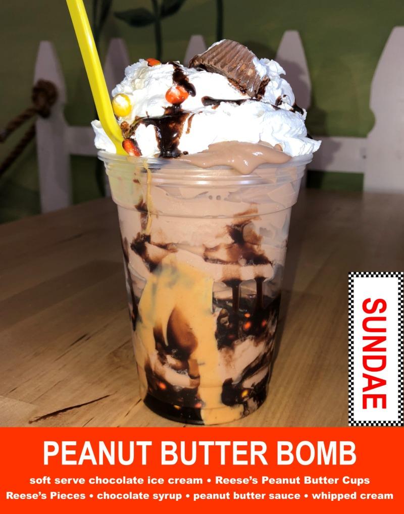 Peanut Butter Bomb Sundae