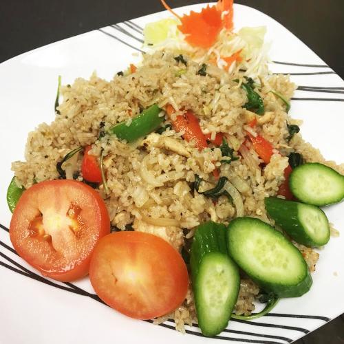 Spicy Fried Rice w/ Basil