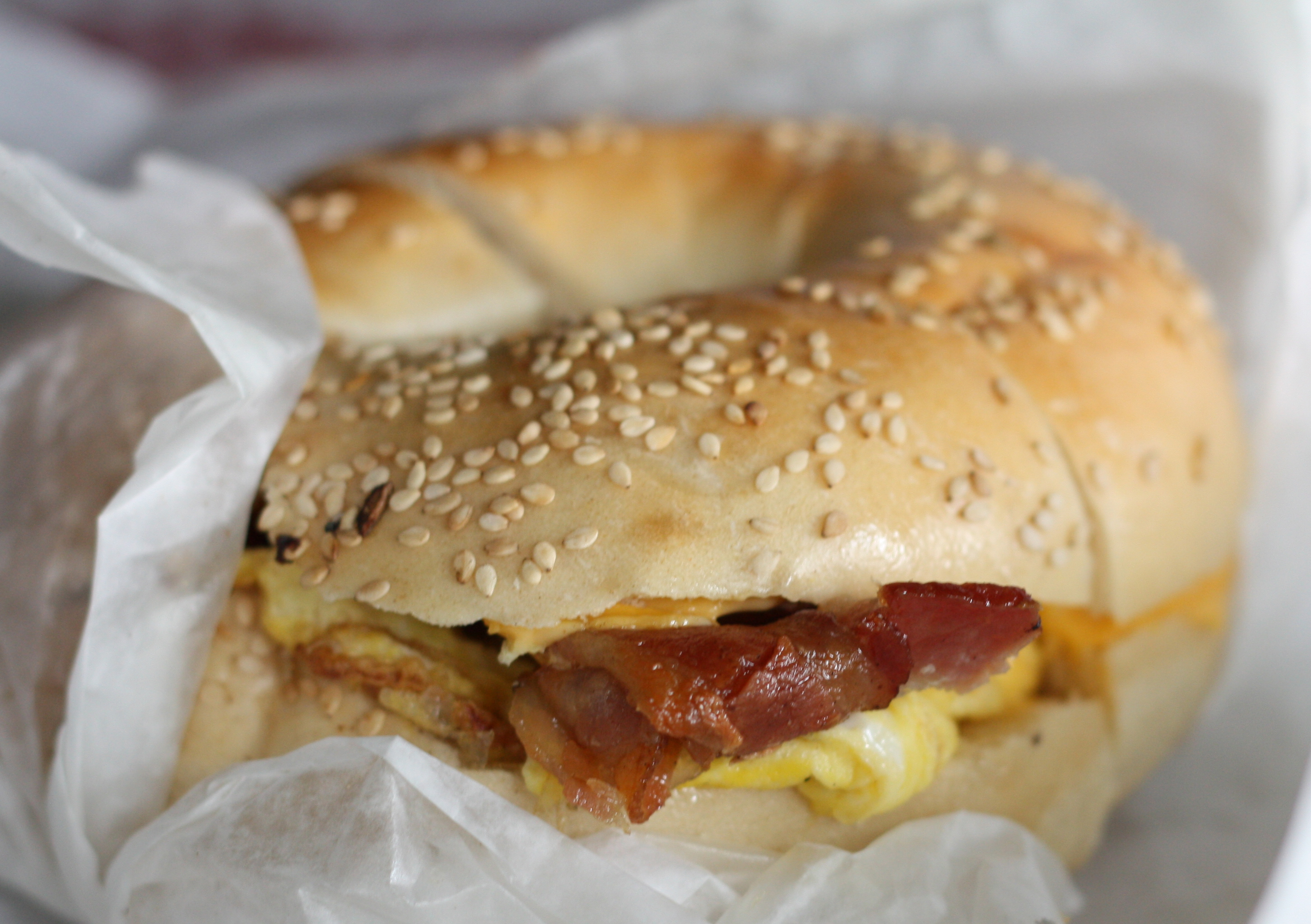 New York Bagel Egg Sandwich Image