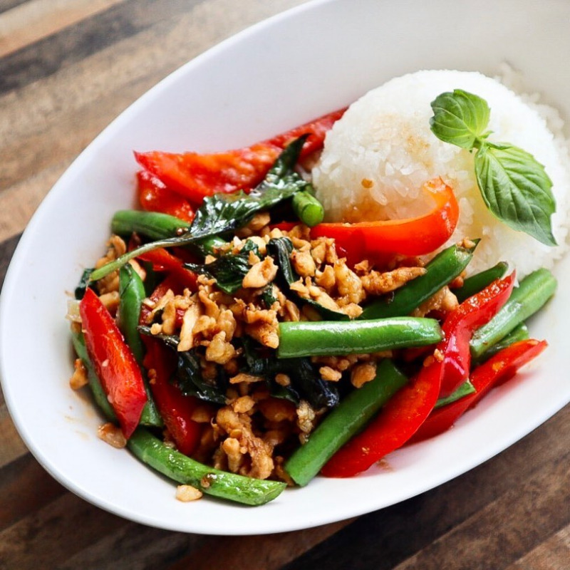 Spicy Basil w/ Rice (Lunch)
