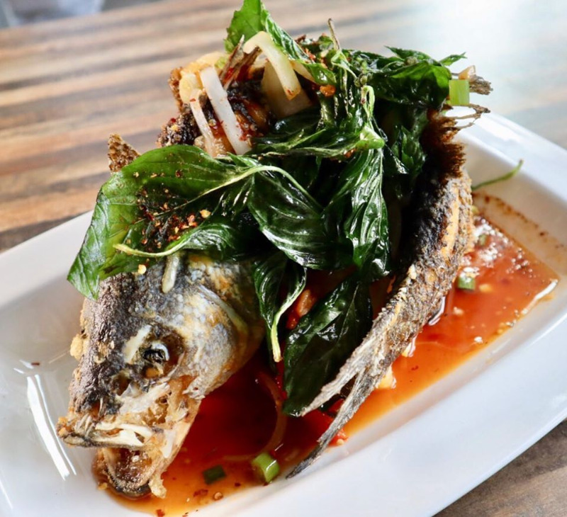 Deep Fried whole Strip Bass Image