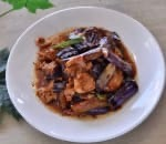 36. Sliced Chicken w. Eggplant in Garlic Sauce Image