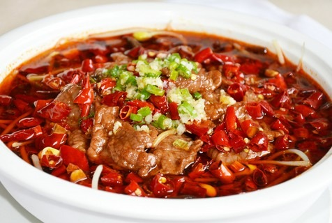 Sliced Beef in Chili Oil 水煮牛肉