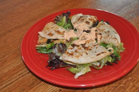 Shrimp and Spinach Quesadilla Image