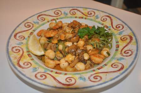 Shrimp, Scallops and Mushroom Sauce Image