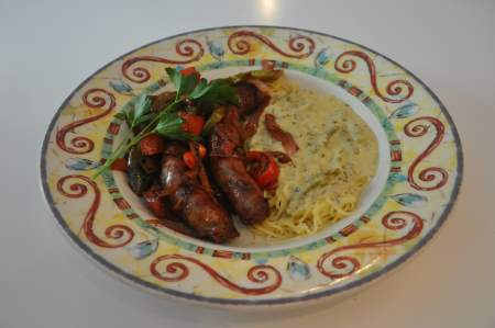Italian Sausage & Peppers Image