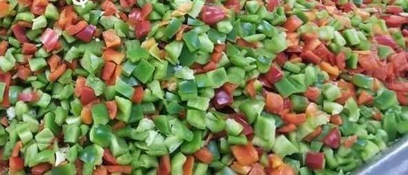 Red & Green Diced Bell Pepper - 1 lb Bag