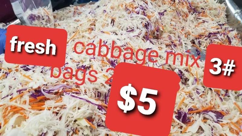 Cabbage Mix - 3 lb Bag