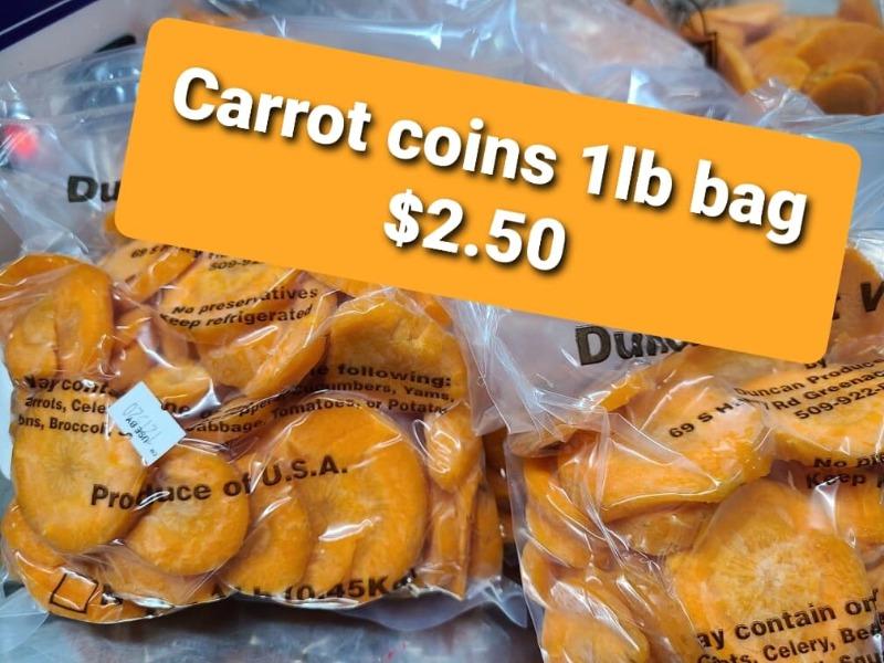 Carrot Coins - 1 lb Bag