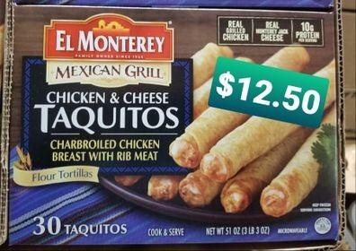 Taquitos 30ct box