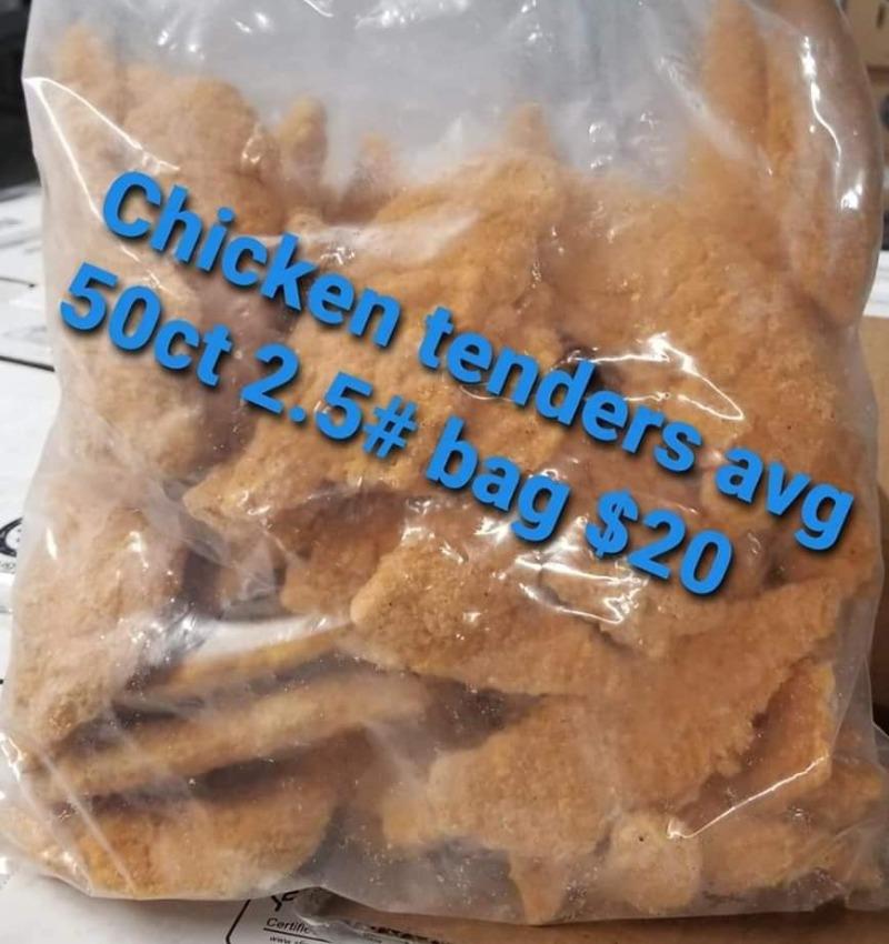 Chicken Tenders (Raw Breaded) - 5 lb Bag