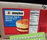 JD Breakfast Sausage Biscuit 4.9oz 12ct