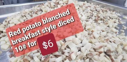 Red Potatoes Breakfast Style Diced and Blanched - 10 lbs