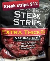 Steak Strips jerk 12oz bag