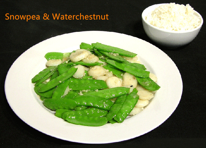 V-5. Snow Peas & Water Chestnuts Image