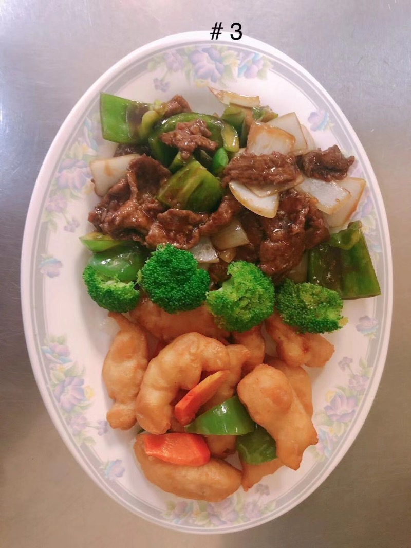#3 Pepper Steak & Sweet and Sour Chicken