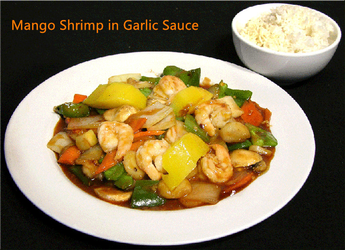 SH-3. Mango Shrimp in Garlic Sauce