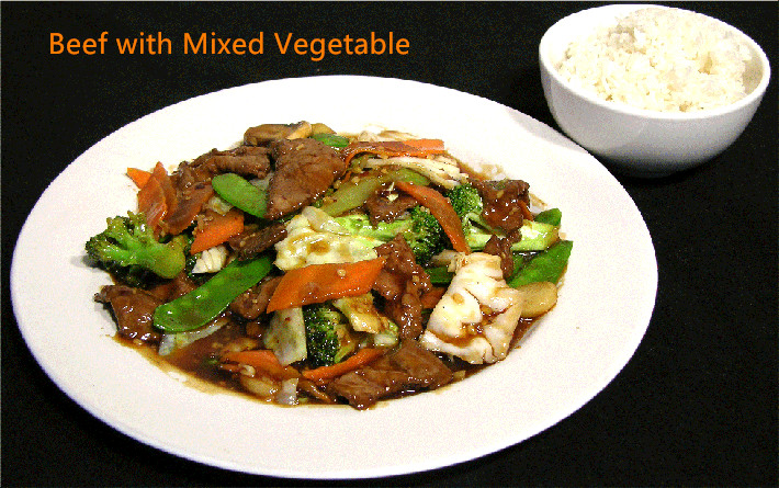 B-2. Beef with Mixed Vegetable
