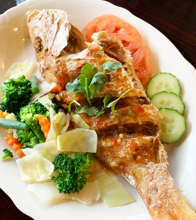 Fried Red Snapper Tamarind Chili Sauce Image