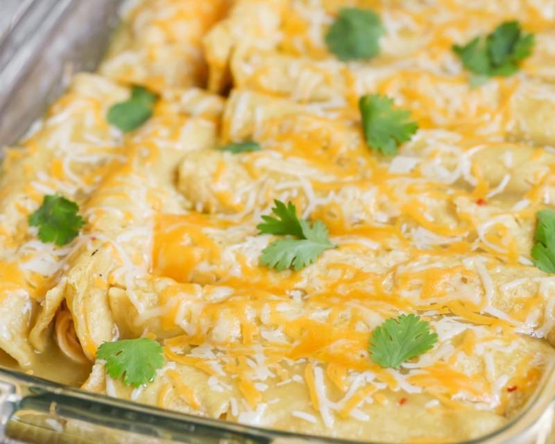 Green Chile Chicken Enchilada Bake Image