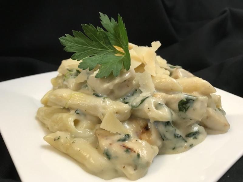Parmesan Garlic Chicken & Spinach Bake Image
